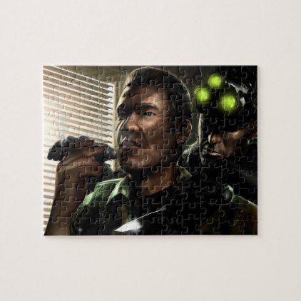 Tom Clancy's Splinter Cell Chaos Theory Jigsaw Puzzle  $18.95  by Katy_Whitehead  - cyo customize personalize diy idea