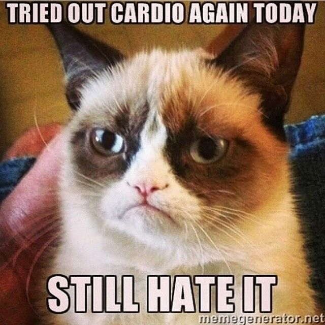 """Tried out cardio again today. Still hate it!"" #Gym #Cardio #Humour"