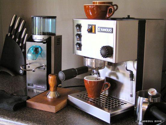 Rancilio Silvia Espresso Machine and Grinder