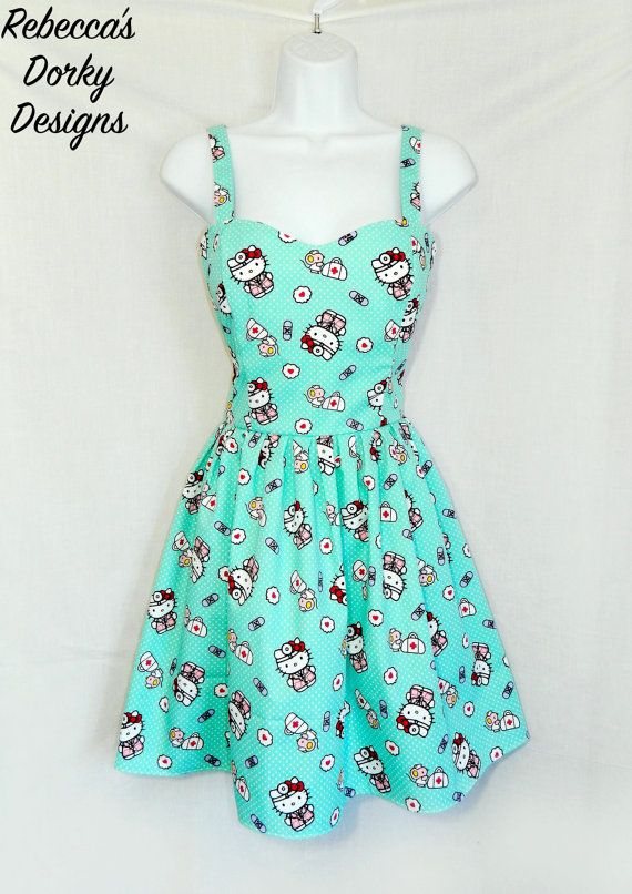Hey, I found this really awesome Etsy listing at https://www.etsy.com/listing/464412899/doctor-hello-kitty-dress