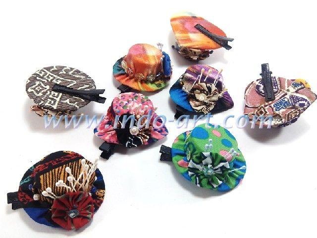 accessories hairpin batik cap