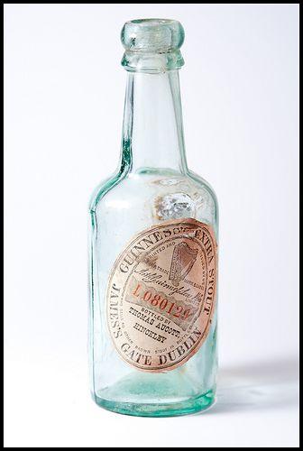 Old glass Guinness bottle Hinckley Thomas Aucott