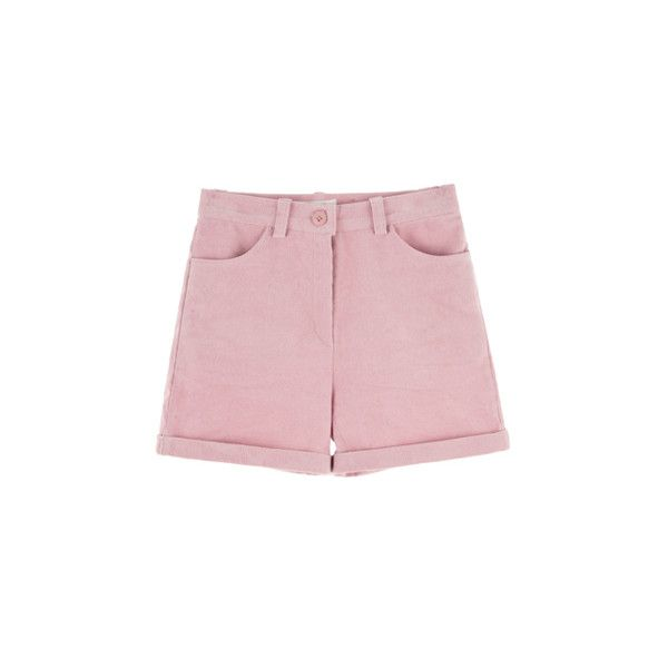 HIDE AND SEEK코듀로이 컬러 하이웨이스트 숏츠 (462.895 IDR) ❤ liked on Polyvore featuring shorts and bottoms