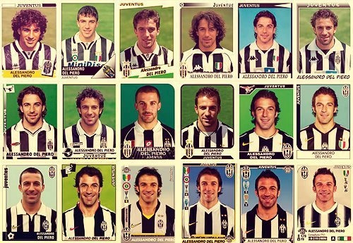 Alessandro Del Piero from years to years