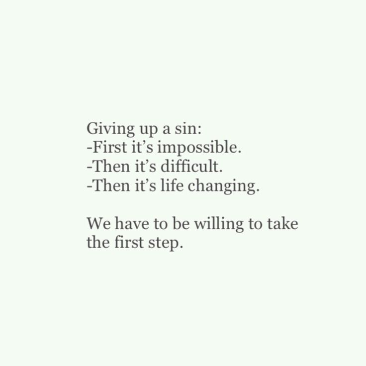Giving up sin