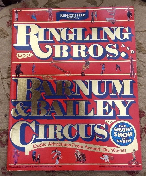 Ringling Brothers Barnum & Bailey Circus Program 1986 Certificate 116th.  D4  | eBay