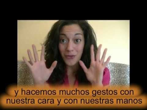 Short video to learn about Spanish gestures.  There are a whole series of Happy Hour Spanish videos!!