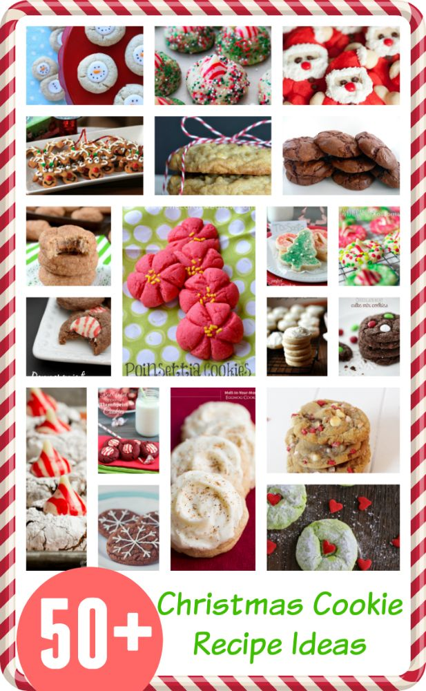 50+ Christmas Cookie Recipes from top bloggers! #christmascookies #cookieexchange #cookierecipes