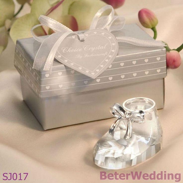 sj017choice crystal baby shoe wedding weddinggift