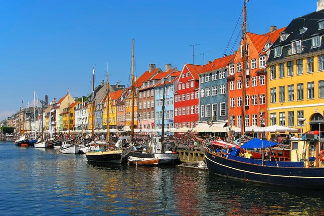 Scandinavia is beautiful days like these. Copenhagen, Denmark.
