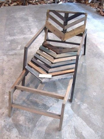 Patio Chaise Lounge made from wood shipping pallets