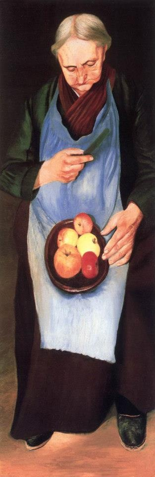 Csontváry Almát hámozó öregasszony