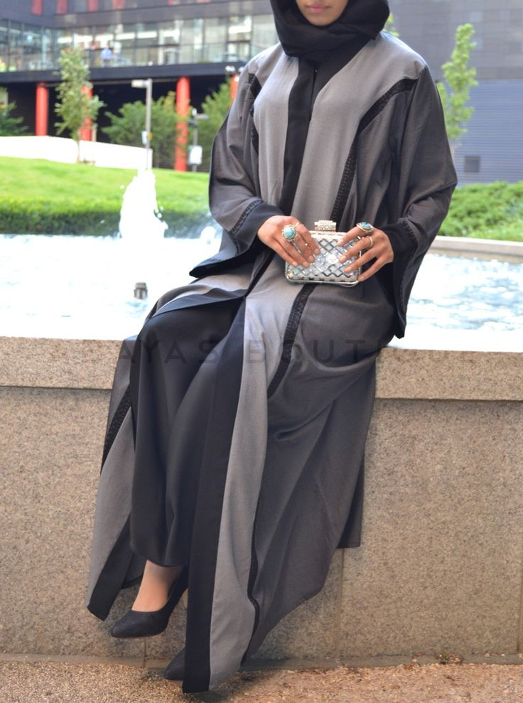 Grey Shades of Soft Denim Abaya