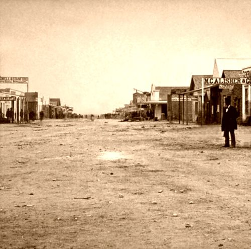 Main Street of Tombstone, Arizona in the 1880's, the same time period as my book.