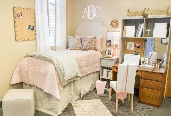 Dorm headboard. It works with any twin dorm bed that isn't built in! Don't know if your bed will be lofted, semi-lofted, or in a cubby? What if your bed is different next year?
