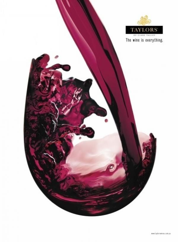 RED WINE POUR, Taylors Wines, Fnl Communications, Print, Outdoor, Ads