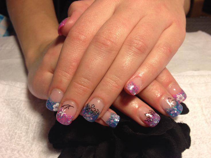 Nails by martini-chicks.com Gel nails Edmonton, Alberta, Canada