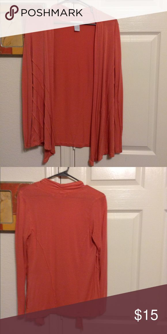 Coral cardigan Coral cardigan, worn a handful of times. No damage to it Design History Sweaters Shrugs & Ponchos