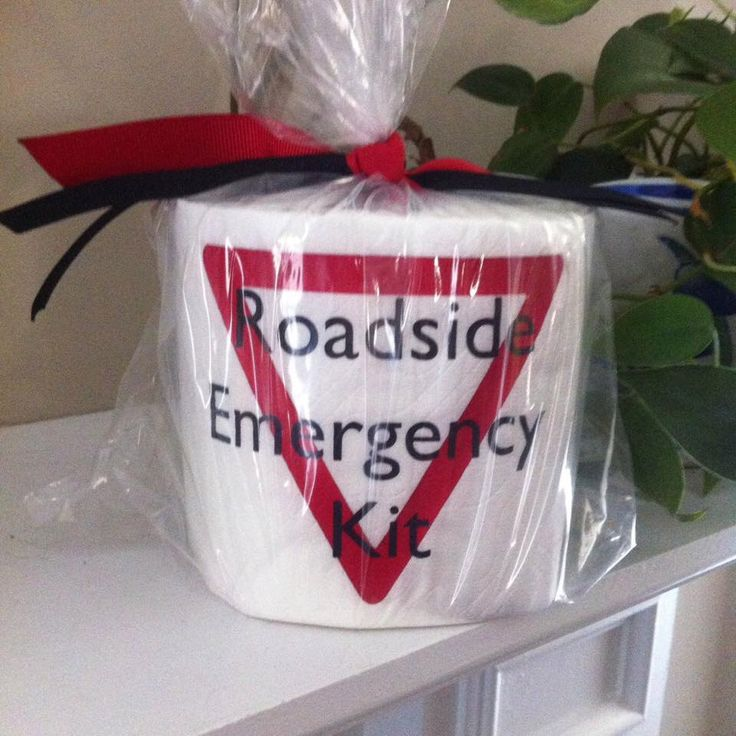 Roadside Emergency Kit Toilet Paper Roll - Humor - Gag Gift by GGWDesigns on Etsy https://www.etsy.com/listing/228261513/roadside-emergency-kit-toilet-paper-roll