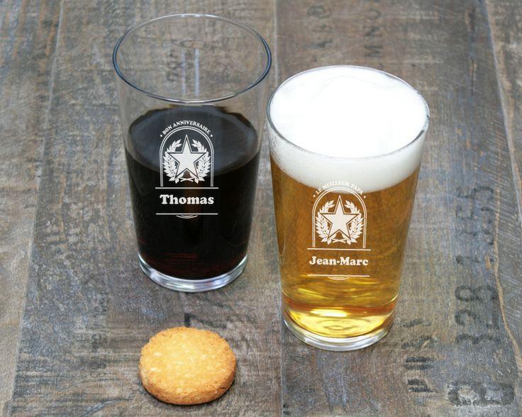17 meilleures images propos de les verres personnalis s sur pinterest polices d 39 criture - Pinte de biere en ml ...
