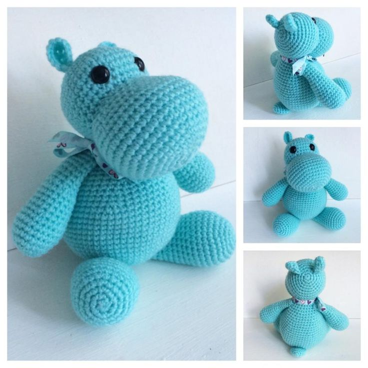 83 best Crochet Hippo & Rhino images on Pinterest | Nilpferd häkeln ...