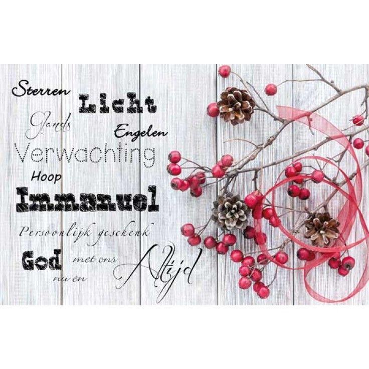 Christelijke tekst kerstkaart
