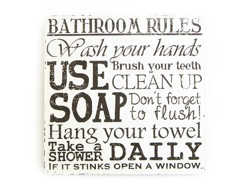 XL Vintage Deko Schild Türschild BATHROOM RULES Shabby Ch... https://www.amazon.de/dp/B007BRPUA0/ref=cm_sw_r_pi_dp_x_MNHAzb4H2PAKX