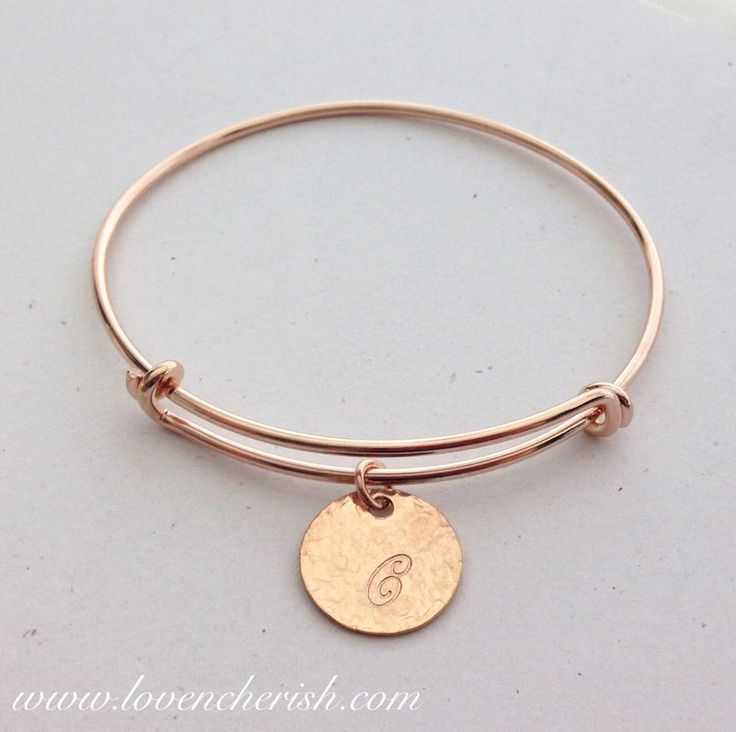 Rose Gold Adjustable Bangle. Also available in gold and sterling silver.  Order yours today at www.lovencherish.com