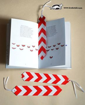 DIY  bookmark in the colours of Baba Marta:)