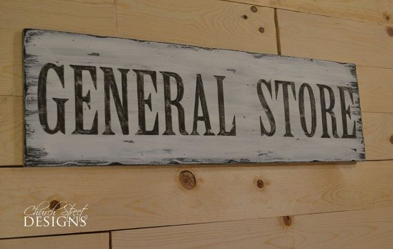 Hand Painted General Store Sign Customized by Church Street Designs - Vintage Store Signs