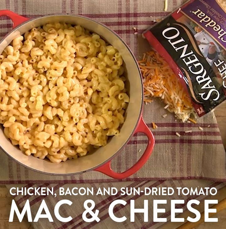 classic mac and cheese? Try adding grilled chicken, sun-dried tomatoes ...