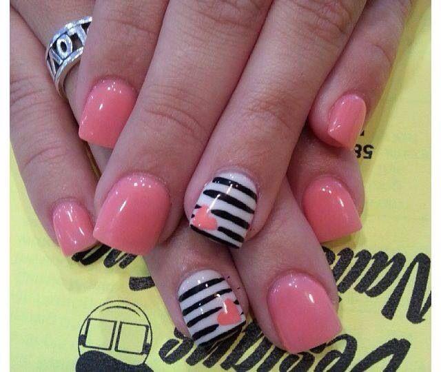 Peach tiger stripe