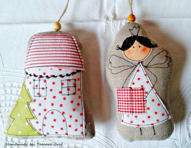 Weihnachtshaus Landhaus WeihnachtenTannenbäumchen von Sweet Home bei Tamara auf DaWanda.com