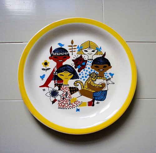 Vintage Stavangerflint plate by Made with love by Cecilie, via Flickr