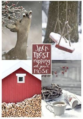 moodboard - red / white winter