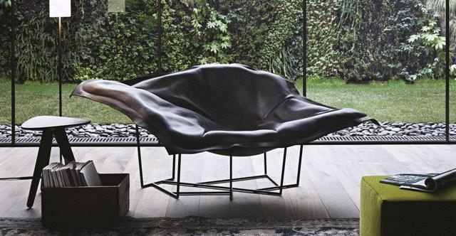 POLIFORM: Wallace armchair, Ipsilon stool and Play pouf