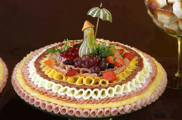 Meat, cheese fruit tray