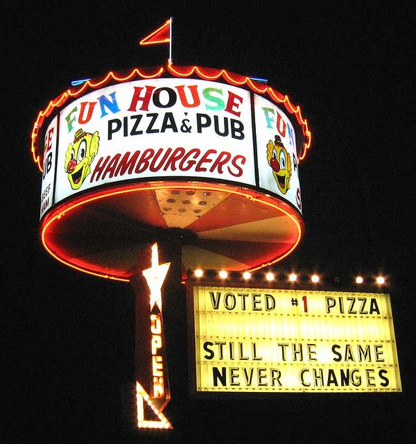 Fun House Pizza & Pub - Independence, Mo.  - home of the garden hoe grnd beef!