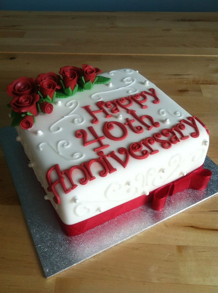 40th wedding anniversary cake - Google Search