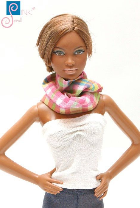 Doll clothes scarf: Viola by Pinkscroll on Etsy