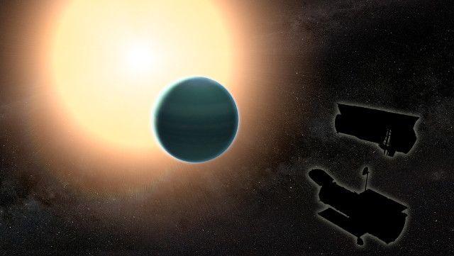 """Un articolo pubblicato sulla rivista """"Science"""" descrive una ricerca sull'esopianeta HAT-P-26b, un nettuniano caldo, cioè un pianeta con dimensioni simili a quelle di Nettuno che orbita vicino alla propria stella HAT-P-26. Un team di ricercatori del Goddard Space Flight Center della NASA e dell'Università britannica di Exeter ha usato i telescopi spaziali Hubble e Spitzer per scoprire quella che viene chiamata un'atmosfera primitiva per HAT-P-26b nonostante la sua stella sia vecchia. Leggi i…"""
