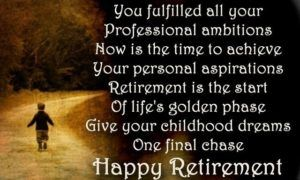Retirement Wishes for Work Colleague