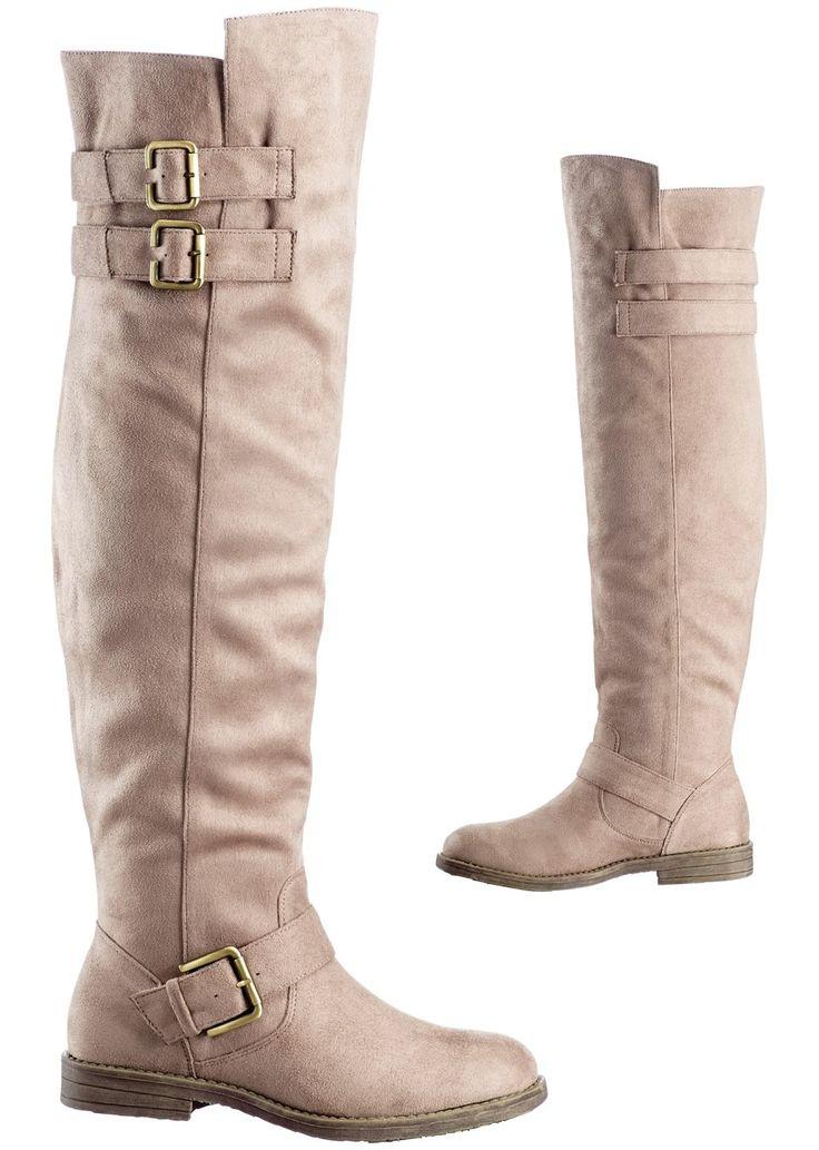 Overknee-laarzen beige - Schoenen & accessoires - bonprix.nl