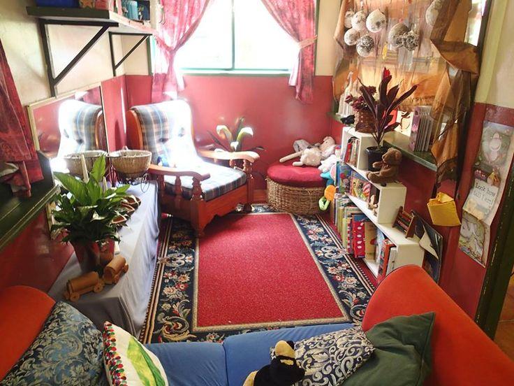 Inviting reading corner