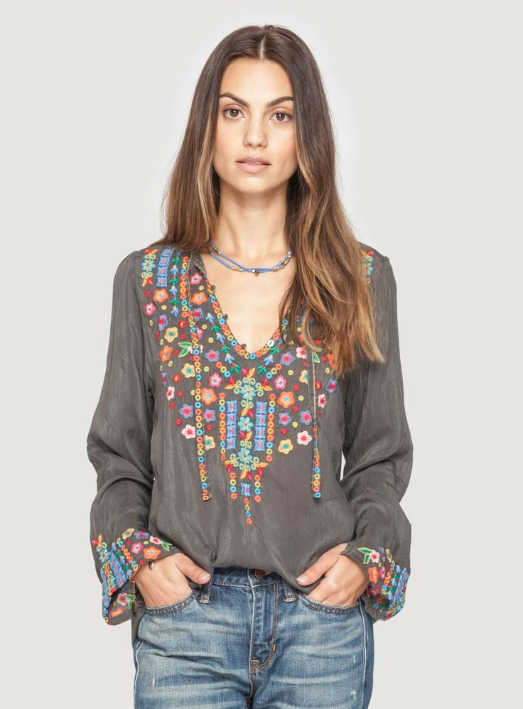 Johnny Was: Ditsy Flower Blouse