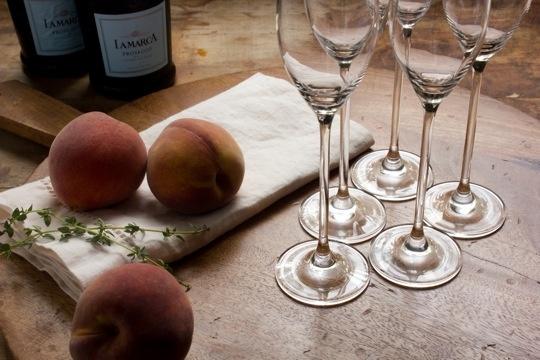 Peach Thyme Bellini | Recipe