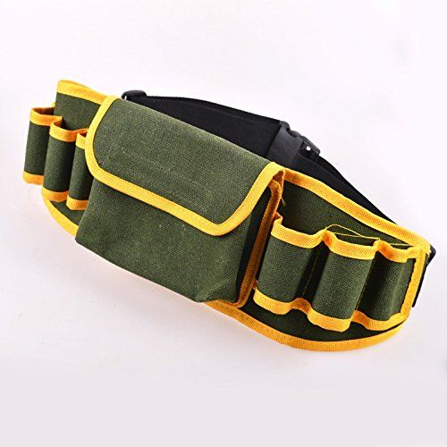 Multifunction Hardware Mechanic Electrician Canvas Tool Bag Safe Belt Utility Kit Pocket Pouch Organizer Bags CSY0306P20 >>> Learn more by visiting the image link. (Note:Amazon affiliate link)