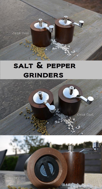 Salt & Pepper Grinders, Bamboo wood Zout & Pepermolen van Bamboe hout