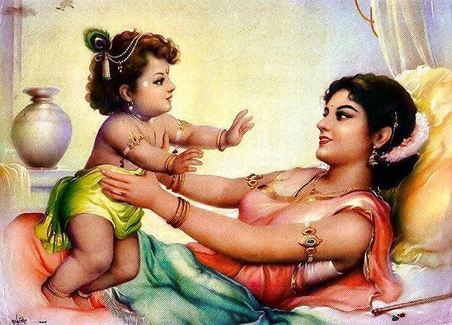 Baby Krishna with Mother Maa Yashoda