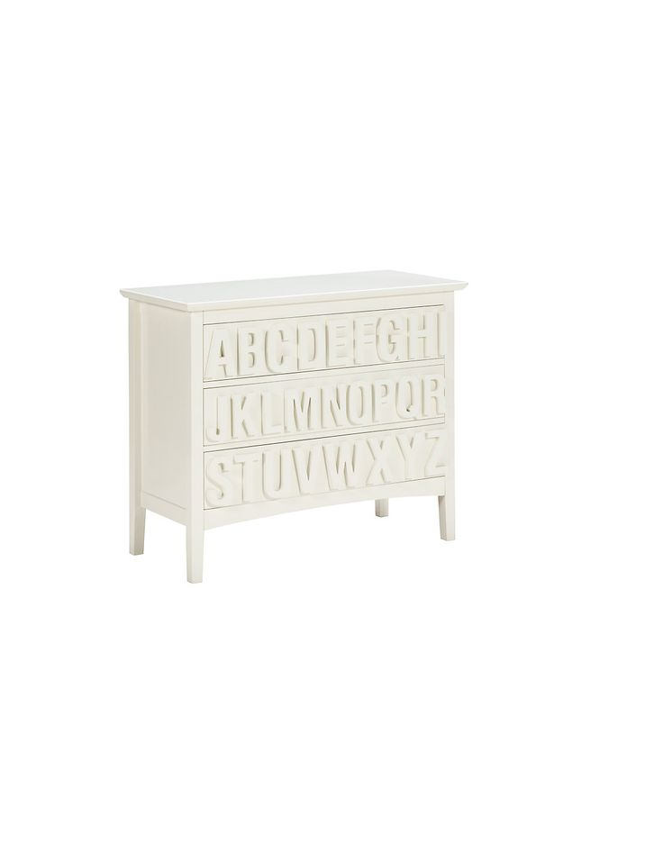 Hastings Ivory ABC 3 Drawer Chest